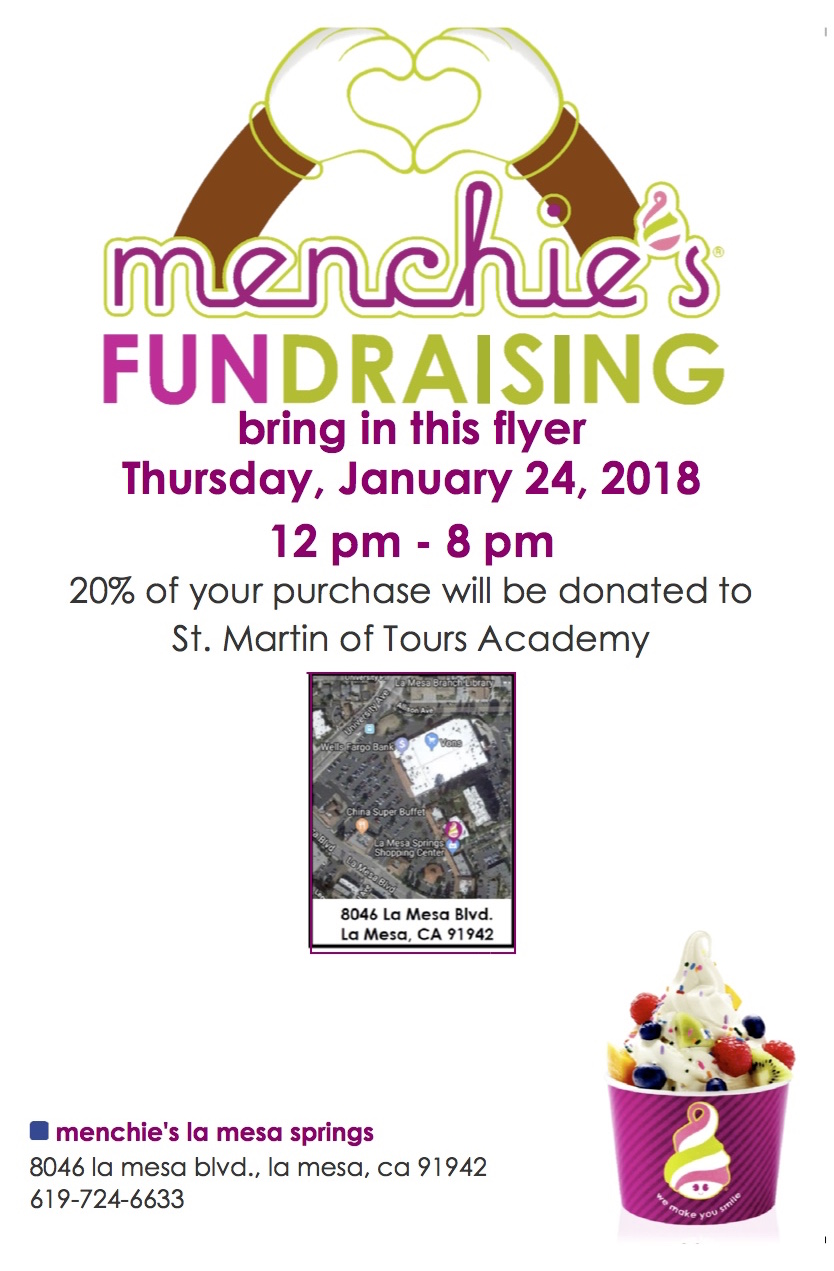 Round Table La Mesa.Round Table Pizza Menchie S Frozen Yogurt Fundraiser For Tuition
